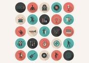 Free Flat Music Vector Icon Set