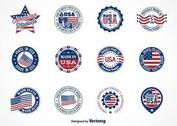 Free Vector Made In USA Labels