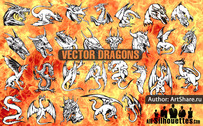 28 Download free vector dragons
