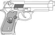 Pistol outline
