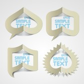 Creative Paper Folded Hollow Text Template Vector 1