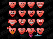 Heart-Shaped Vector Graphic Subject Emoticons