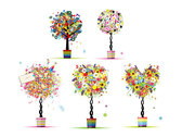 Colorful Pattern Composed Of Small Trees