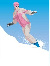 Snow boarding vector 2