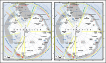 Vector Map Of The World Exquisite Material - Map Of Antarctica