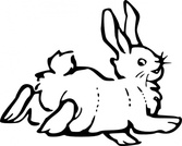 Running Rabbit Outline