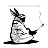 AMERICAN INDIAN VECTOR ILLUSTRATION.eps
