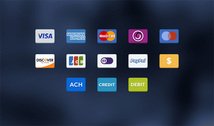 13 Colorful Credit Card Payment Icons Set
