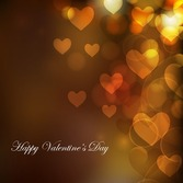 Heart Bokeh Background for Valentine Day