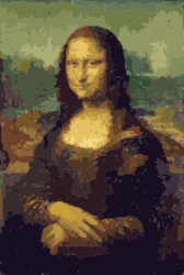 New Mona Lisa in the Pixel Age