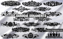 17 Free baroque ornaments
