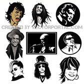 MUSIC LEGENDS VECTOR COLLECTION.eps