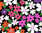 Pattern with colorful flowers