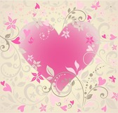 Vector Heart with Floral Ornament