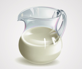 Realistic 3D Milk Jug/Jar Vector Graphics (Free)