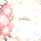 Beautiful flowers background vector-14