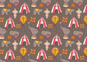 Free Vector Vintage Circus Seamless Pattern
