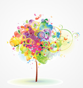 Abstract Tree Vector Illustration (Free)