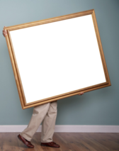High res photo in frame PSD