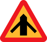 Road layout Sign