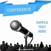 Conference free poster template