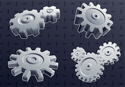 3D Cool Gear Element Vector Background Material