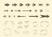 Free Vector Arrows and Lines