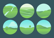 Beautiful Rolling Hills Landscape Vectors