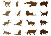 Cats Silhouettes Set
