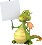 Dragon With Sign PSD