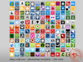 Shiny Social Icons (PSD)