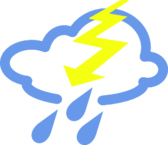Thunder storms Weather Symbol