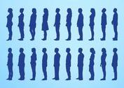 Standing People Silhouettes