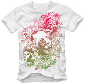 T-Shirt Design Vector - Floral Zombie Nightmare