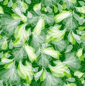 Creative Seamless Green Floral Pattern