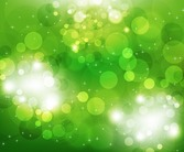 Vector Illustration of Green Light Background
