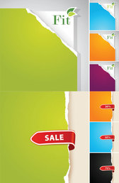 Ripped Paper Background Vector Ripped
