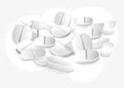 White Pills Vector Wallpaper