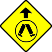 pedestrians crossing