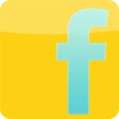 Facebook Yellow & Blue Logo PSD