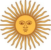 May Sun From Argentina Flag