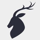 VECTOR SILHOUETTE OF A BUCK.eps