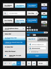 Clean Blue Gloss UI Kit
