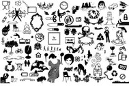 Collection of Vector Silhouette Stock Elements