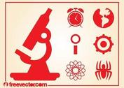 Science And Research Icons