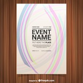 Free vector poster abstract design