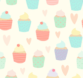 Watercolor cake seamless background