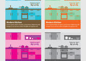 Modern Kitchen Vector Backgrounds