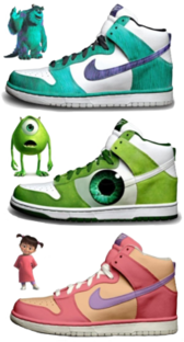Monsters Inc High tops PSD