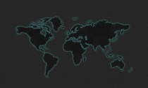 Dark Psd World Map